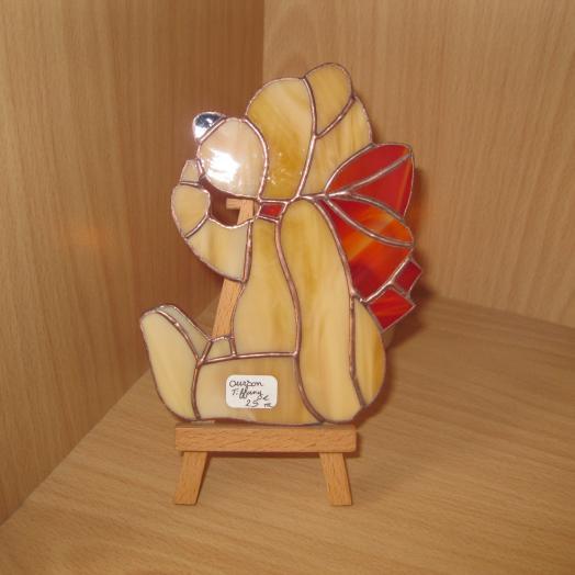 Ourson en vitrail tiffany