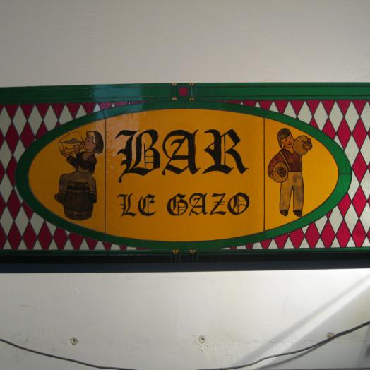 """Vitrail pour la devanture du bar """"Le Gazo"""""""