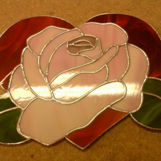 Coeur et rose Tiffany