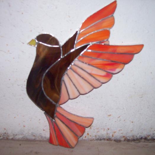 oiseau en vitrail tiffany
