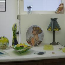 Exposition d'objet en verre